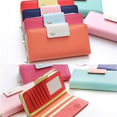 Women Lady Clutch Long Purse Leather Zip Wallet Card Holder Handbag US Warehouse