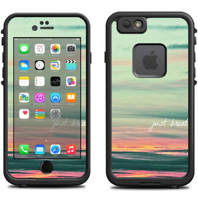 Skin Decal for Lifeproof iPhone 6 Fre Case / Just Breathe sunset scene