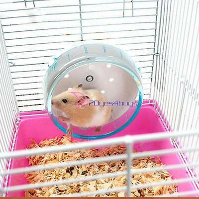 Hamster Squirre lMouse Rat Exercise Plastic Silent Running Spinner Wheel Pet Toy