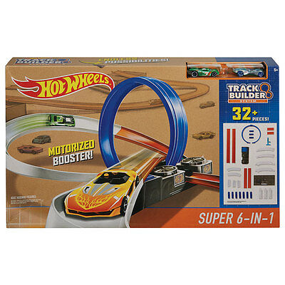 Hot Wheels Track Builder System Super 6-In-1 - NEW
