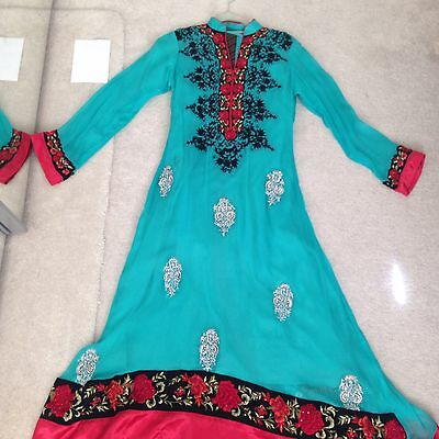 Indian Pakistani Designer Anarkali Maxi Dress Shalwar Kameez Urgent Sale
