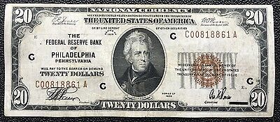 $20 Series 1929 National Currency/ Federal Reserve Bank Of Philadelphia, Pa