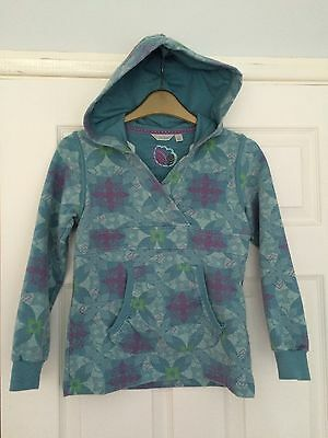 Fat Face Girls Blue Swirl Hoodie Jumper 7-8 years  ⭐️Gr8 Condition⭐️