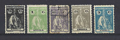 Group of 5 stamps from ANGOLA