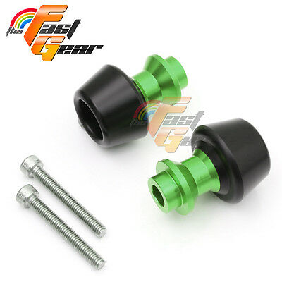 Green CNC Swingarm Spools Sliders Set Fit Kawasaki ZX-10R Ninja 2011-2015