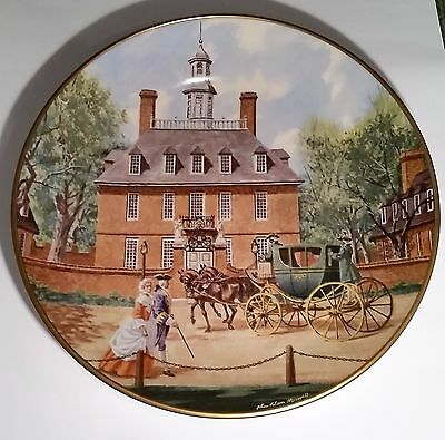 "AMERICAN COMMEMORATIVE COUNCIL GORHAM CHINA - GOV. PALACE VA  - 11"" Plate 1973"