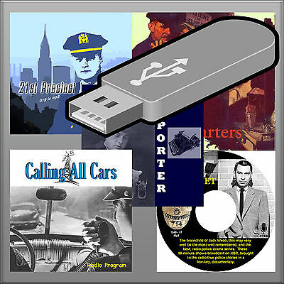 OTR Collection This is Your FBI in Peace and War-Dragnet-CALLING ALL CARS 16GB