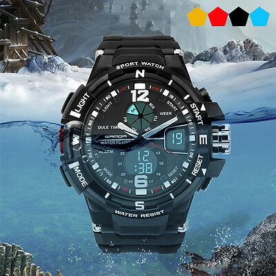 Fashion Military Army Men's Boys Waterproof Light Outdoor Sports Wrist Watches