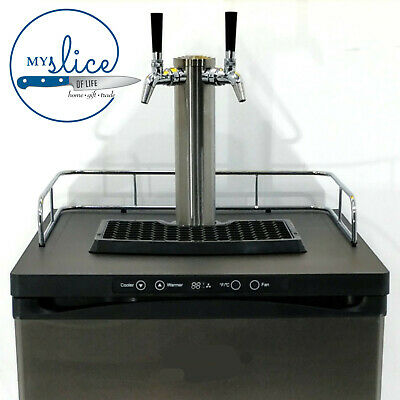 Keg Master Series 4 Kegerator - Twin Chrome Plated Tap / ABS Font Included