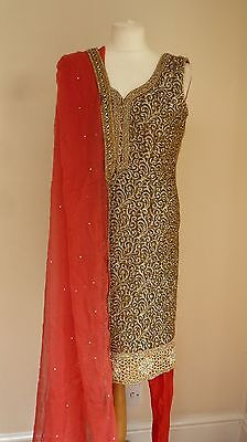 red 10-12 punjabi Indian salwar kameez PYJAMI bollywood PY13375