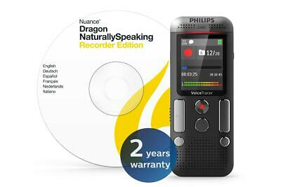 Philips 8GB 2 Mic Voice Tracer Audio Recorder with Dragon Speech-to-Text