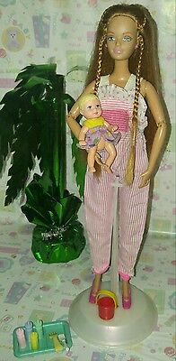 "Barbie ""HAPPY FAMILY"" MIDGE DOLL(not pregnant) w/BABY KRISSY & ACCESSORIES.!!"