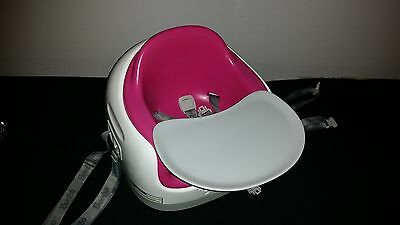 Pink BUMBO Multi Booster Infant Baby Toddler 3 in 1 Seat with Tray