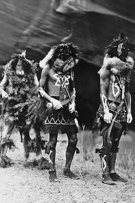 New 5x7 Native American Photo: Yebichai Indian War Gods in Ceremonial Dress