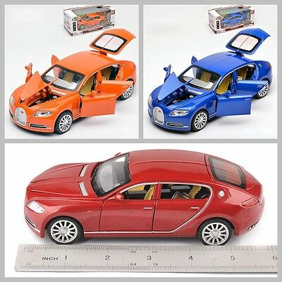 Diecast Collection Toy 1:32 Car Model Bugati Veyron Light Music Colorful Alloy