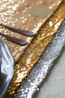 30 x 275cm Rectangle Sequin Table Cloth Runner For Wedding Party Home Decor