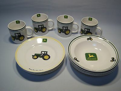 Vintage Gibson John Deere Tableware 11 Piece Collectible China Set