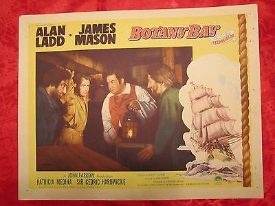 Botany Bay (1953) Alan Ladd With Men Plotting  - Original Lobby Card