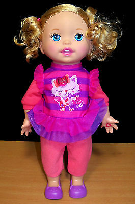 Little Mommy Let's Make Music Interactive Doll - Works - EUC