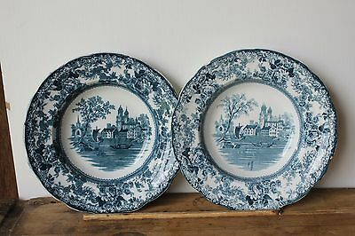 Vintage Antique F Winkle Colonial Pottery, England. Pair of bowls.Togo Pattern.