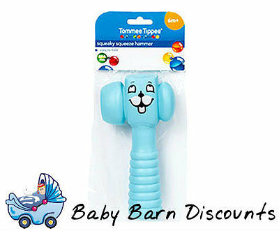 NEW Tommee Tippee - Squeaky squeeze hammer - Sky Blue from Baby Barn Discounts