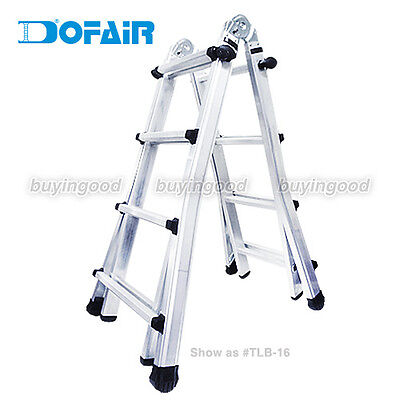 Dofair TLB-12 4.7 ft Multi-purpose telescopic folding ladder - GS approved