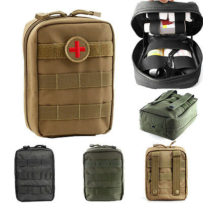 Utility First Aid Bag MOLLE Emergency EMT IFAK Medical Waist Pouch Outdoor