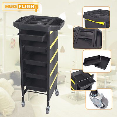 Hairdresser 5 Drawer Coloring Hair Trolley Rolling Storage Cart Multifunction CE