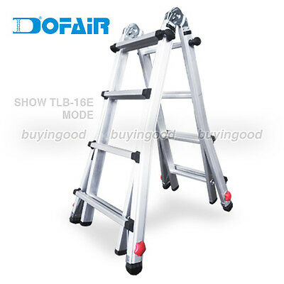8.2 ft Multi-purpose telescopic ladder w/extension feet - GS approved