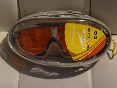 Speedo Biofuse Rift Tri-Power Anti-fog UV Wide View Swimming Goggles with case