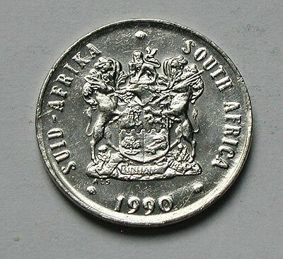 1990 SOUTH AFRICA Coin - 20 Cents - full lustre - flower
