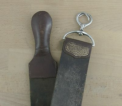 The KEEN EDGE Vintage Brown Leather Razor Strop