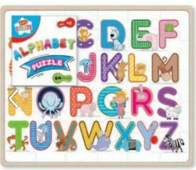 ALPHABET Jigsaw PUZZLE 52ps LEARN&Play LETTERS preschool NURSERY kids children