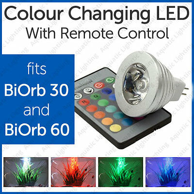 3Led Light Bulb For Biorb 30 & 60 Biube With Colour Change Remote *SALE*