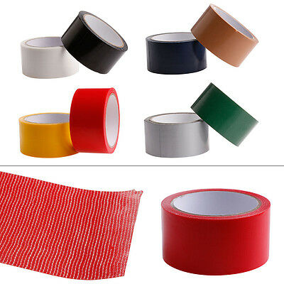 50mm x10M Waterproof Adhesive Sticky Cloth Duct Tape Roll Craft Repair 8 Colors
