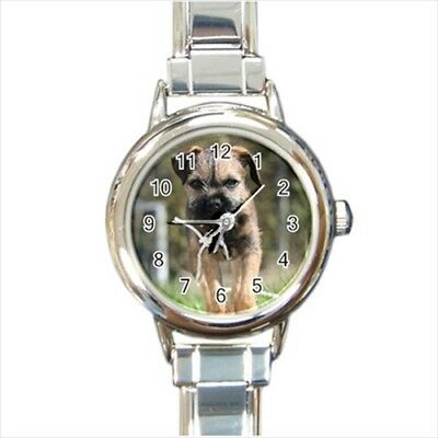 Border Terrier Italian Charm Watch (Battery Included)