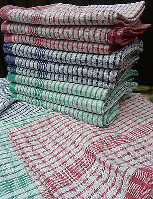 Pack of 10  Tea Towels 100% cotton dish drying cleaning cloth wonderdry kitchen