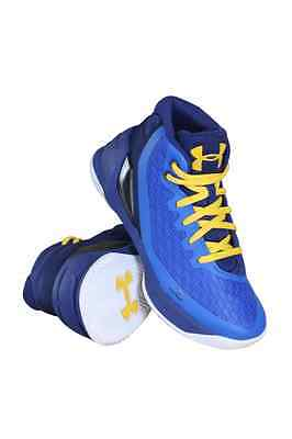 1276275-400 Preschool Curry 3 (Ps) Under Armour Blue Yellow