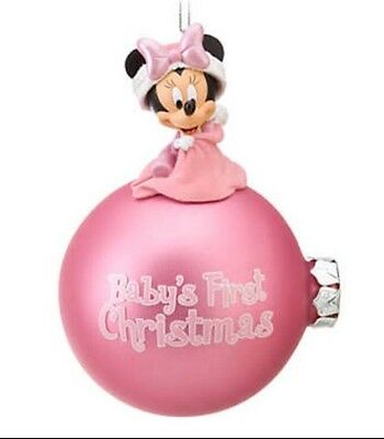 Authentic Disney Minnie Mouse Baby's First Christmas Ornament Nib