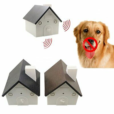Ultrasonic Dog Bark Control Anti Barking Device Silencer Stopper Outdoor Indoor
