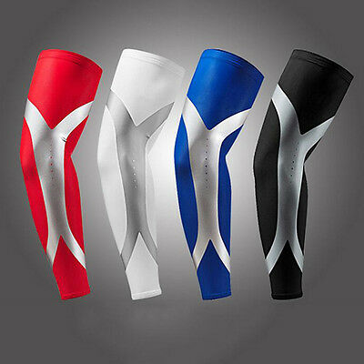 Elastic Sports Long Arm Sleeve Warmers Elbow Pads Protector Stretch Support Pad