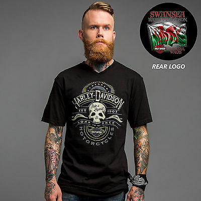Harley Davidson Mens  Skulls and Speed Black T-Shirt