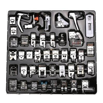 42 Pcs Domestic Sewing Machine Presser Foot Feet Kit For Brother Singer Janome