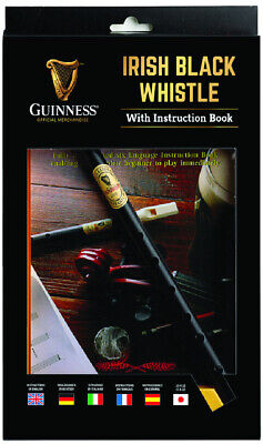 Guinness Irish Black Whistle And Instruction Book