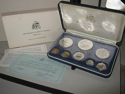 Barbados proof coin year set 1973