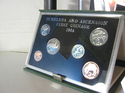 St Helena proof coin year set 1984