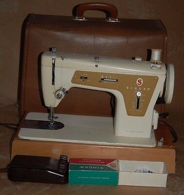 Retro Vintage Singer 237 Fashion Mate Industrial Zig Zag Sewing Machine CASED