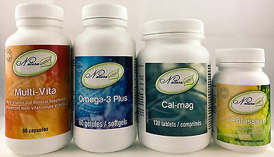 Ideal Protein Super Pack Cal-mag/Multi-Vita/Potassium/Omega3 Plus