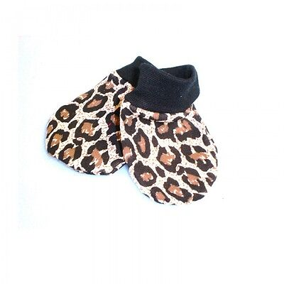 Leopard print scratch mittens alternative goth punk rock metal baby