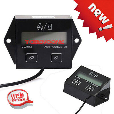 Waterproof Hour Meter Tachometer 2 & 4 Stroke Small Engine Spark For Boat ATV TO